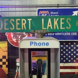 Panneaux Verts Des Rues Américaines 90.5x15.5cm Desert Lakes Rd