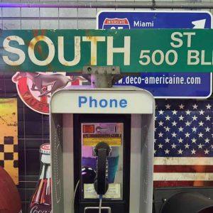 Panneaux Verts Des Rues Américaines 90.5x15.5cm E South St 500 Blk