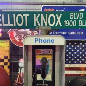 Panneaux Verts Des Rues Américaines 90.5x15.5cm Elliot Knox Blvd 1900 Blk