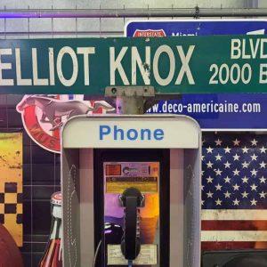 Panneaux Verts Des Rues Américaines 90.5x15.5cm Elliot Knox Blvd 2000 Blk 1