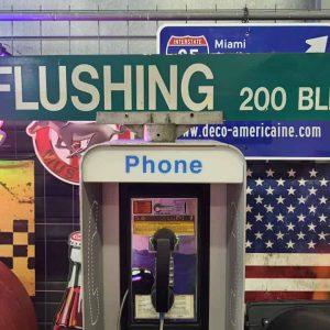 Panneaux Verts Des Rues Américaines 90.5x15.5cm Flushing 200 Blk A1