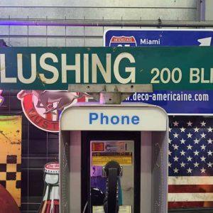 Panneaux Verts Des Rues Américaines 90.5x15.5cm Flushing 200 Blk B