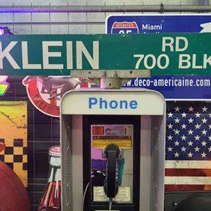 Panneaux Verts Des Rues Américaines 90.5x15.5cm Klein Rd 700 Blk