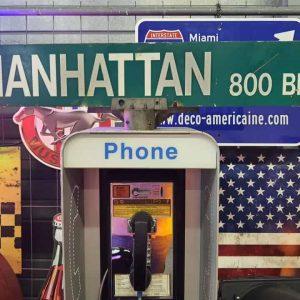 Panneaux Verts Des Rues Américaines 90.5x15.5cm Manhattan 800 Blk 1
