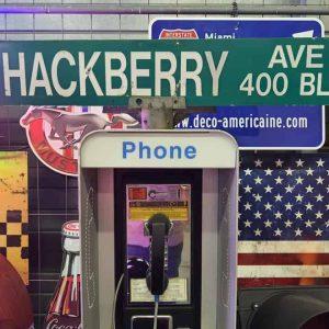 Panneaux Verts Des Rues Américaines 90.5x15.5cm S Hackberry Ave 400 Blk 1