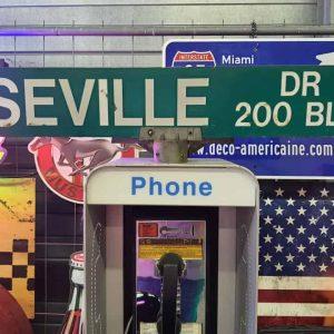 Panneaux Verts Des Rues Américaines 90.5x15.5cm Seville Dr 200 Blk 1