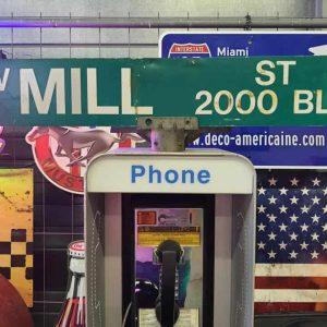 Panneaux Verts Des Rues Américaines 90.5x15.5cm W Mill ST 2000 Blk