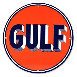 Gulf 12″ Sign