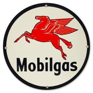 Mobilgas 12″ Sign