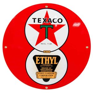 Texaco Ethyl 12″ Sign