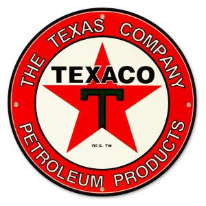 Texaco Petroleum 12″ Sign