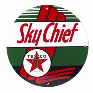Texaco Sky Chief 12″ Sign