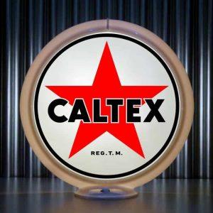 caltex globe de pompe a essence americaine