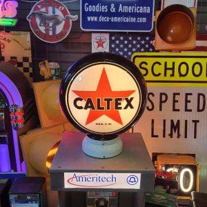 caltex globe de pompe a essence americaine 1