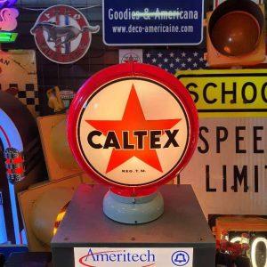 caltex globe de pompe a essence americaine 2