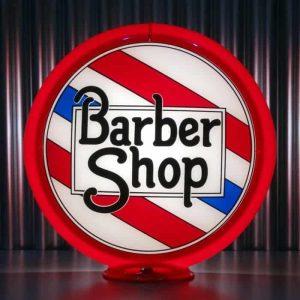 Globe De Pompe A Essence Americaine Barber Shop Red