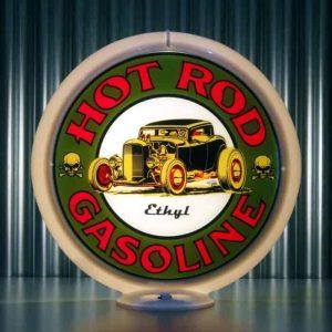 Globe De Pompe A Essence Americaine Hot Rod Gasoline Ethyl