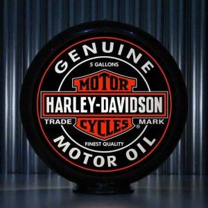 Globe De Pompe A Essence Americaine De La Marque Harley Davidson