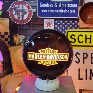 globe de pompe a essence americaine de la marque harley davidson b black