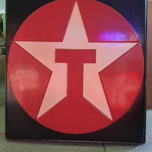 enseigne authentique de station service texaco 1 face xl 147cm x 150cm