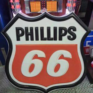 enseigne de station service phillips 66 80x85cm