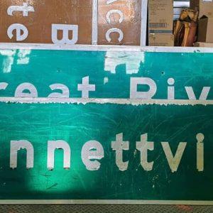 panneau de signalisation routiere americain bennett ville 225cmx76cm