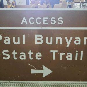 panneau de signalisation routiere americain paul bunyan state trail 122cm x 183 cm