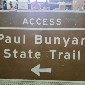 panneau de signalisation routiere americain paul bunyan state trail 122cm x 183 cm 1