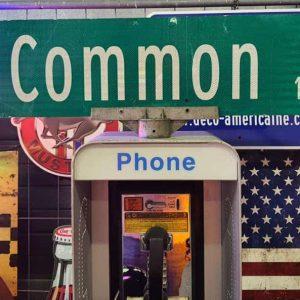 panneaux verts des rues américaines 90.5x23cm e common st 1200
