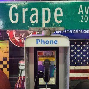 panneaux verts des rues américaines 90.5x23cm s grape ave 200