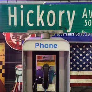 panneaux verts des rues américaines 90.5x23cm s hickory ave 500