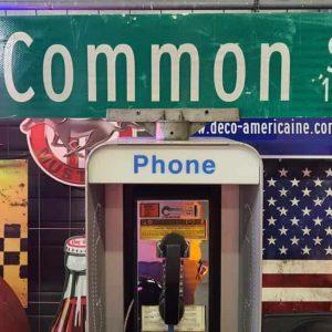 panneaux verts des rues américaines 90.5x23cm w common st 100