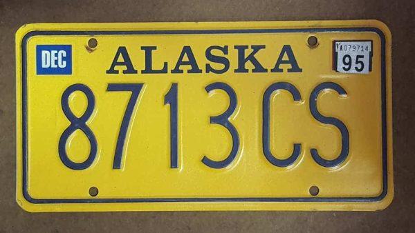 Plaque d'immatriculation américaine - ALASKA