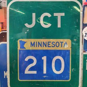 panneau de signalisation routiere americain highway minnesota junction 210 107cmx137cm
