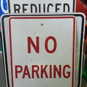 panneau de signalisation routiere americain no parking 61x76cm