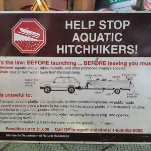 panneau de signalisation routiere americain parc americain aquatic hitchhikers 123x92cm