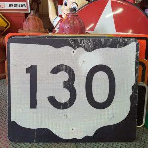 panneau de signalisation routiere americain road state 130 couleur noire 76x61cm