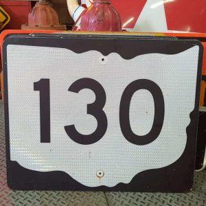 panneau de signalisation routiere americain road state 130 couleur noire 76x61cm 1