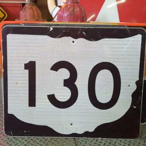 panneau de signalisation routiere americain road state 130 couleur noire 76x61cm 2