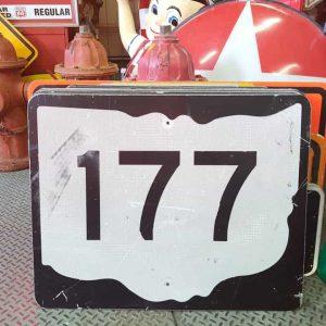 panneau de signalisation routiere americain road state 177 couleur noire 76x61cm