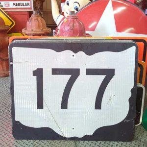 panneau de signalisation routiere americain road state 177 couleur noire 76x61cm 1