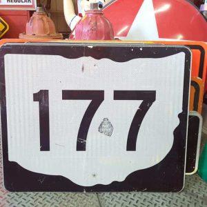 panneau de signalisation routiere americain road state 177 couleur noire 76x61cm 3