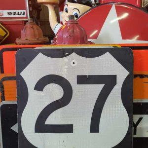 panneau de signalisation routiere americain road state 27 couleur noire 61x61cm 2