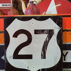 panneau de signalisation routiere americain road state 27 couleur noire 61x61cm 3