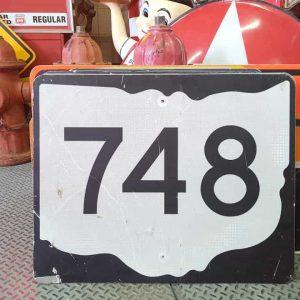 panneau de signalisation routiere americain road state 748 couleur noire 76x61cm
