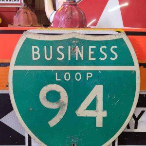 panneau de signalisation routiere americain road state 94 business loop 61x61cm