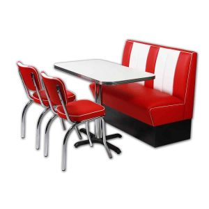 coin repas americain 1 banquette et 2 chaises hollywood