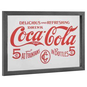 12x14 coca cola in bottles printed mirror