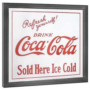 12x14 coca cola sold here printed mirror
