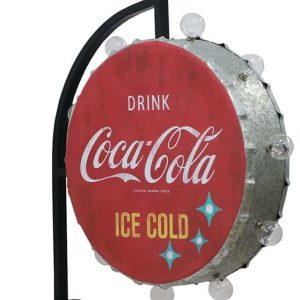 coca cola roud off the wall bracket sign